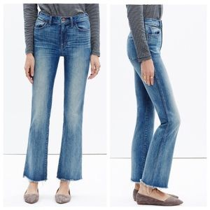Madewell High Rise Medium Wash Flare Boot Jeans